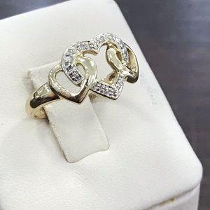 Jewelry - 14k yellow gold diamond heart ring
